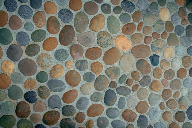 Fond et texture de sol en pierre de galets