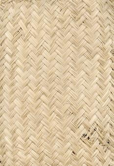Fond de texture de tapis de bambou léger tissé