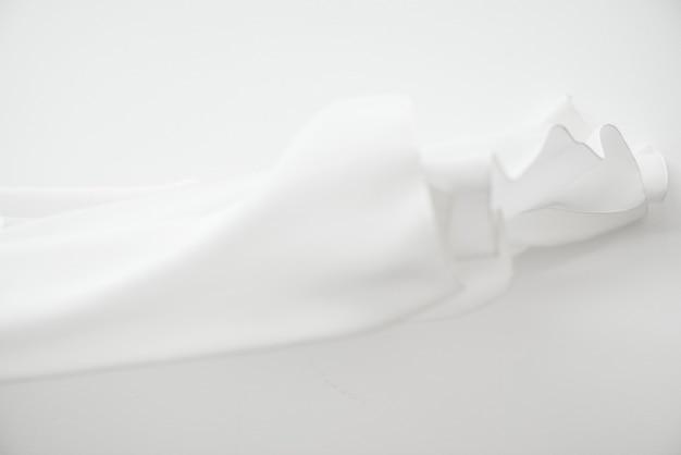 Fond de texture de tissu blanc