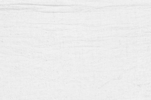 Fond de texture en tissu de coton blanc froissé