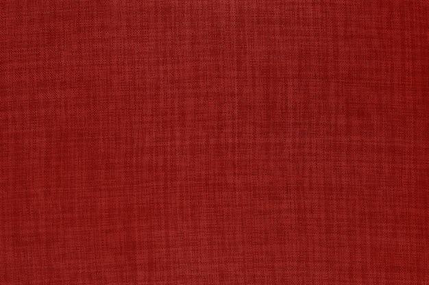 Fond de texture de tissu lin rouge