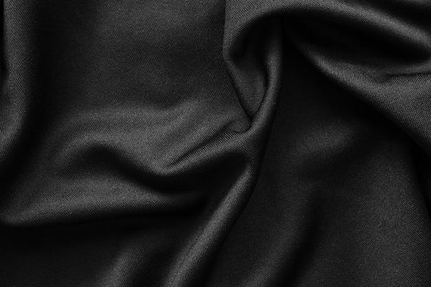 Fond de texture de tissu de luxe en tissu noir