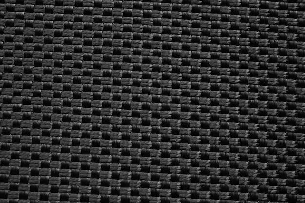 Fond de texture de tissu noir