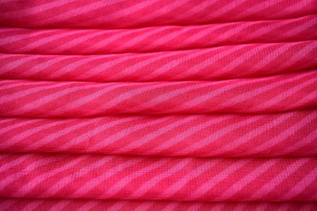 Fond De Texture De Tissu Rouge Photo Premium