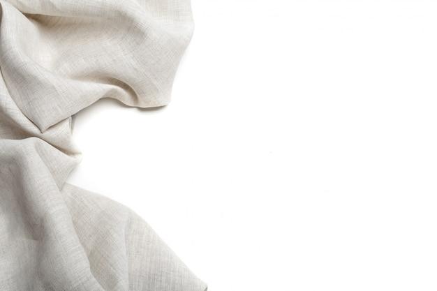 Fond de texture de toile de lin blanc