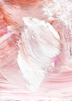 Fond texturé de traits de peinture à l'huile rose