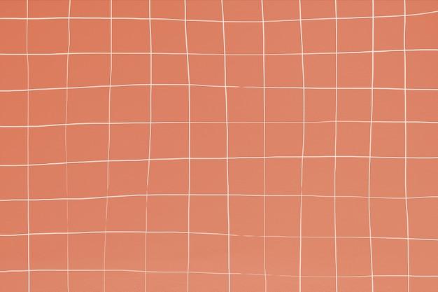 Fond de texture de tuile carrée géométrique déformée saumon