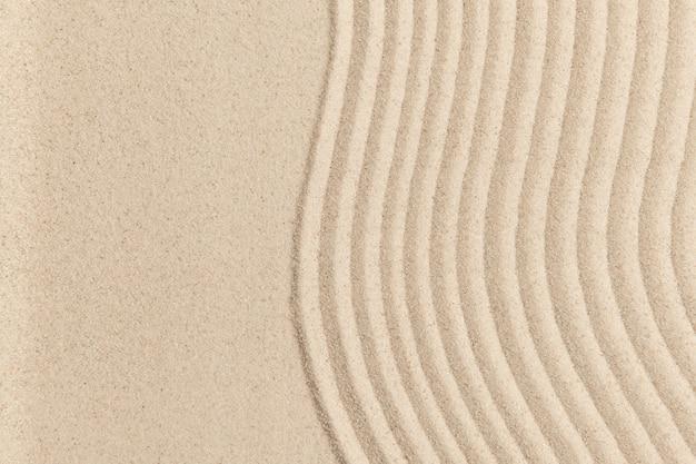Fond texturé de vague de sable zen dans le concept de santé et de bien-être