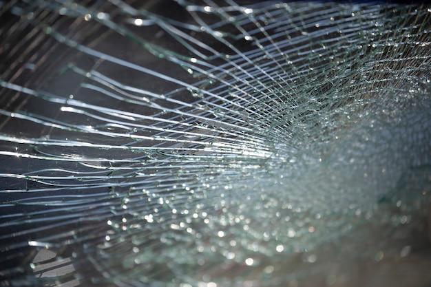 Fond de texture de verre fissuré.
