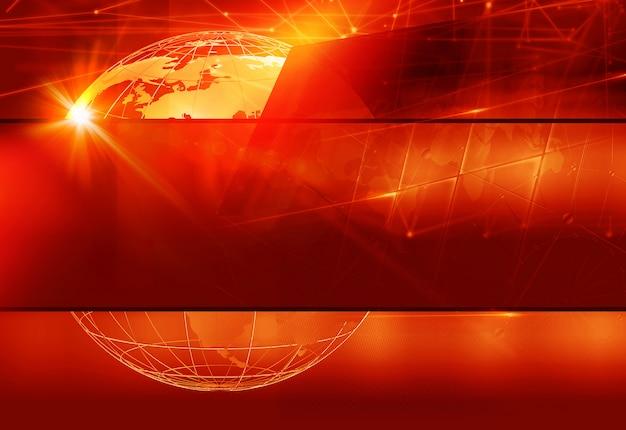 Fond de thème rouge graphique