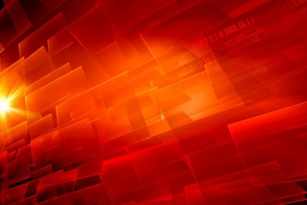 Fond de thème rouge numérique abstrait graphique