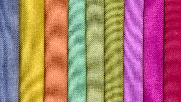 Fond de tissu coloré, une pile de tissu coloré.