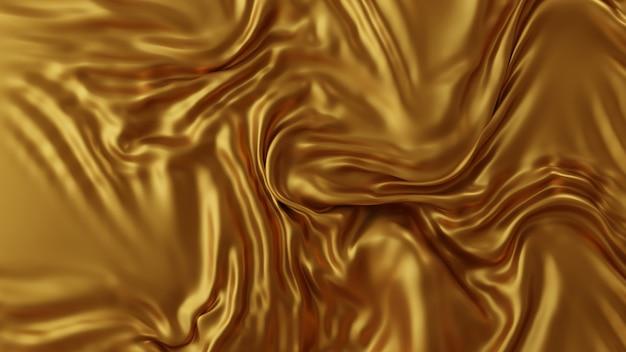 Fond de tissu de luxe doré rendu 3d