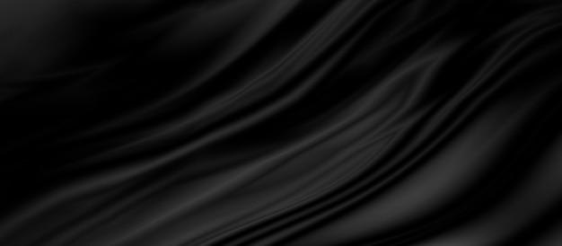 Fond de tissu de luxe noir avec espace de copie