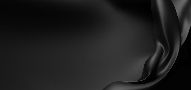 Fond de tissu de luxe noir avec espace copie