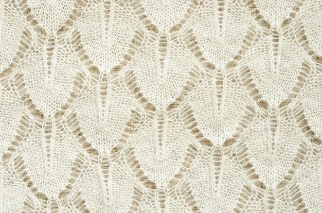 Fond de tissu tricoté blanc