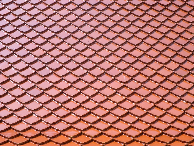 Fond de toit de tuiles rouges