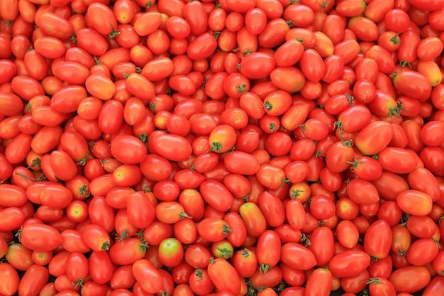 Fond de tomates cerises rouges