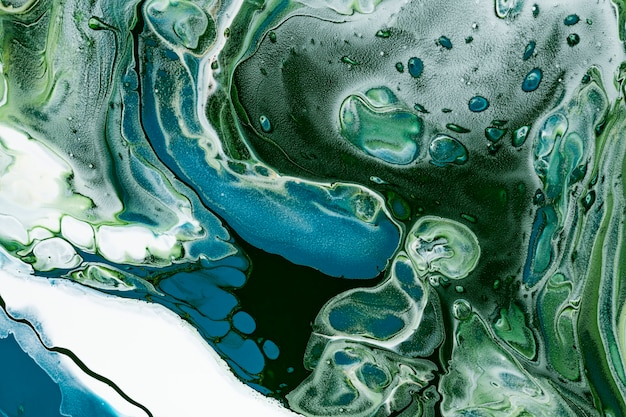 Fond de tourbillon de marbre vert diy art expérimental de texture fluide