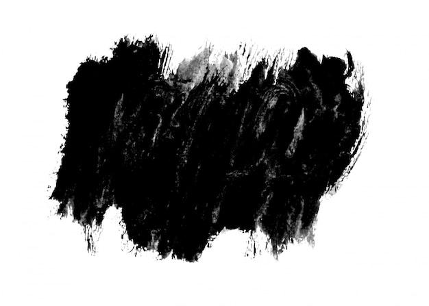 Fond de trait de peinture à l'encre noire