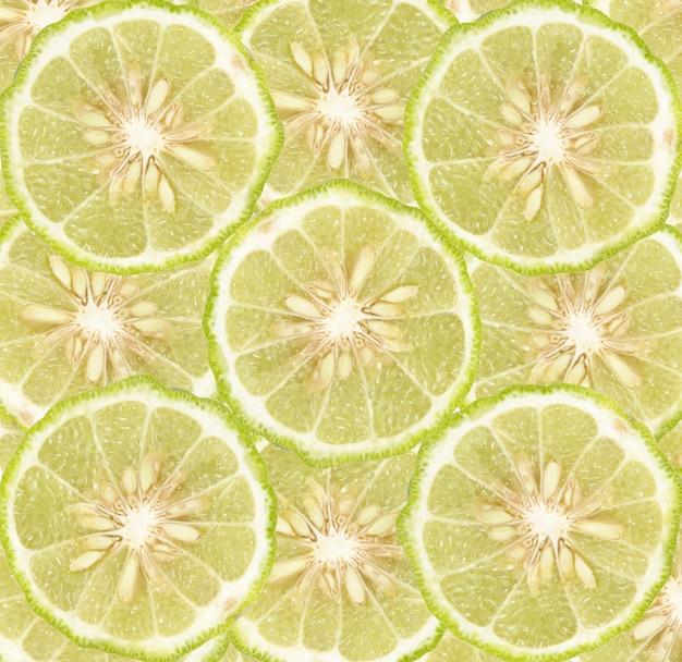 Fond de tranches de citron vert
