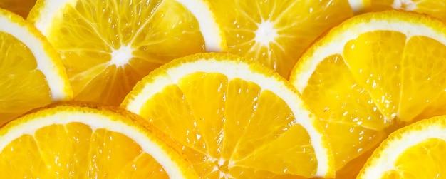 Fond de tranches d'orange