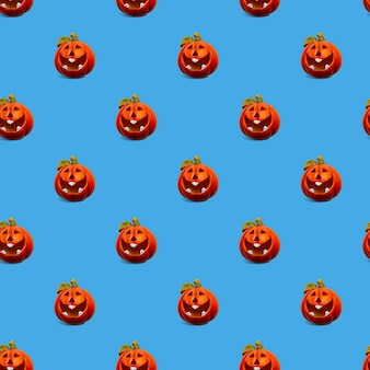 Fond transparent avec un motif de citrouilles. concept d'halloween.