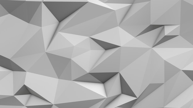 Fond de triangle blanc abstrait low poly