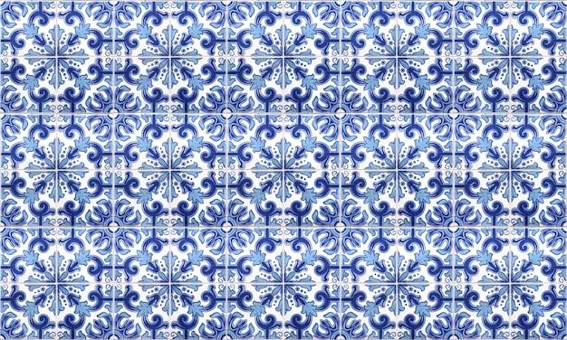 Fond de tuile azulejo sans couture portugal ou espagne