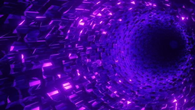 Fond de tunnel de cristal géométrique abstrait