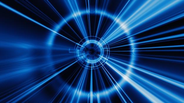 Fond de tunnel géométrique de technologie abstraite