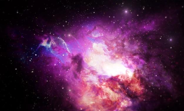 Fond de l'univers de la nébuleuse