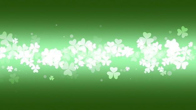 Fond de vacances saint patrick day avec des trèfles verts. illustration 3d de luxe et de style élégant pour les vacances