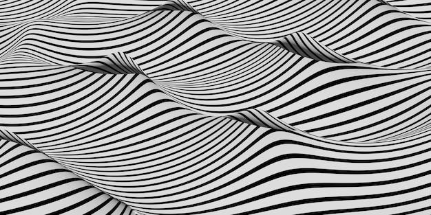 Fond de vague abstrait illustration 3d de fond de vague