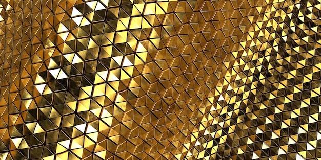 Fond de vague d'or abstrait géométrique