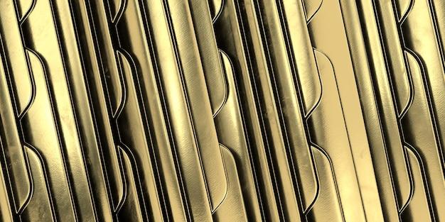 Fond de vague d'or art géométrique