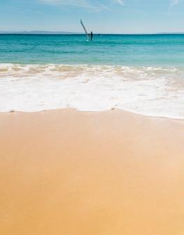 Fond de vague de plage.