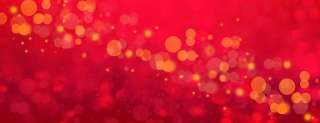 Fond de valentine abstrait bokeh rouge romantique.