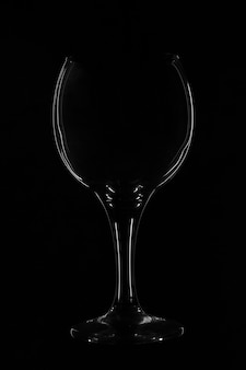 Fond de verre noir bokal. silhouette de verre