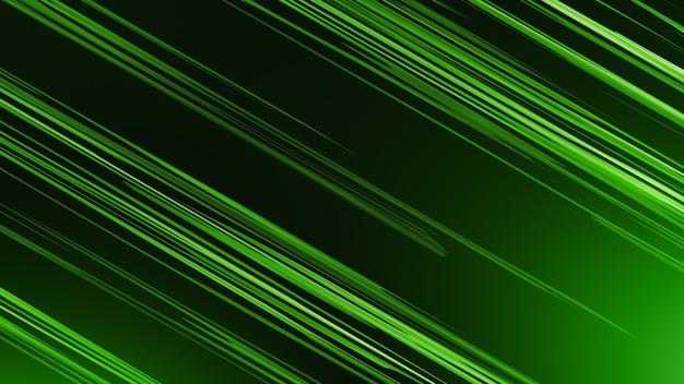 Fond vert, alternance de rayures diagonales jaunes.