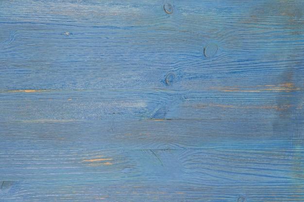 Fond de vieilles planches texturées de couleur bleue.