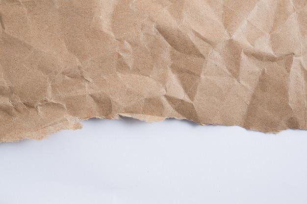 Fond vieux brun froissé papier texture