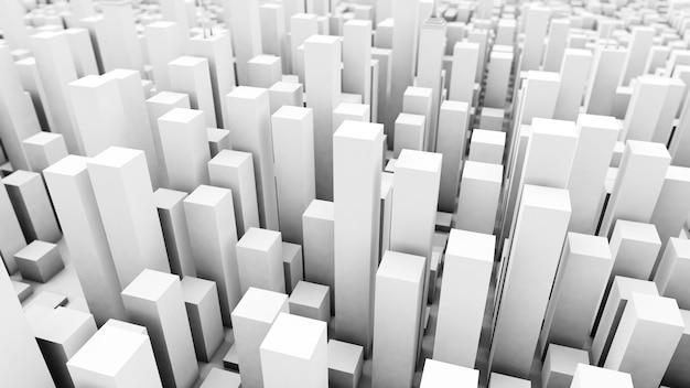 Fond de ville blanche en cubes