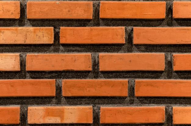 Fond vintage de mur de briques brunes
