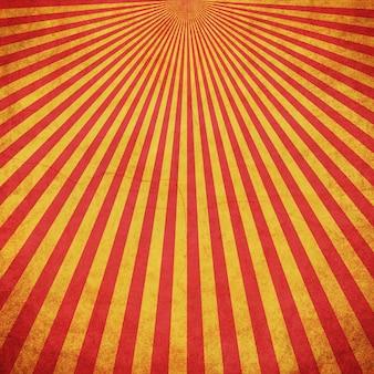 Fond vintage rouge et jaune grunge sunburst avec espace