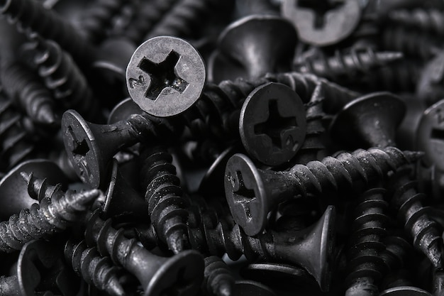 Fond de vis de fer noir