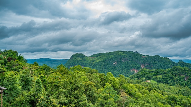 Fond de vue sur la montagne sereine