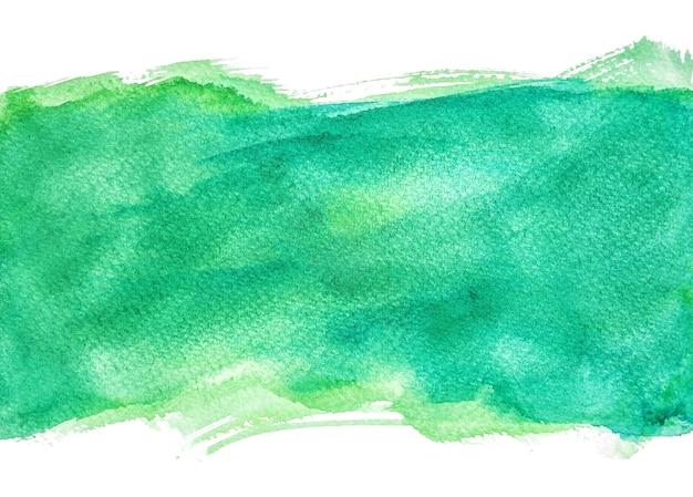 Fonds d'aquarelle verte, peinture à la main