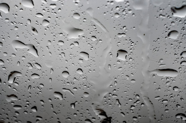 Fonds d'ecran gouttes de pluie d'eau de l'intérieur sur la vitre d'une voiture fonds d'ecran