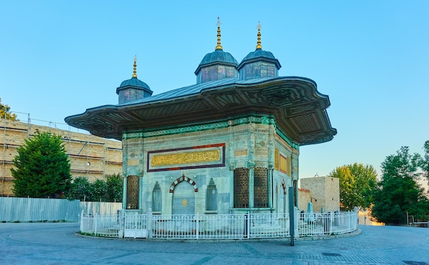 La fontaine d'ahmed iii à istanbul, turquie